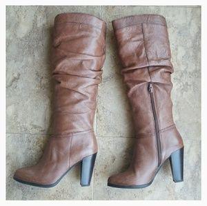"Aldo sz.7 gorgeous brown leather 3.5"" sexy boots🎇"